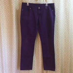 City Streets purple skinny jeans